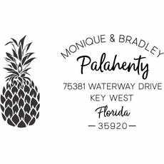 Return Address Stamp - The Pineapple