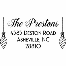 Holiday Return Address Stamp - The Preston