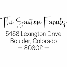 Return Address Stamp - The Saxton