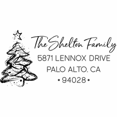 Christmas Tree Stamp - The Shelton