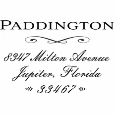 Custom Wood Stamp - The Paddington