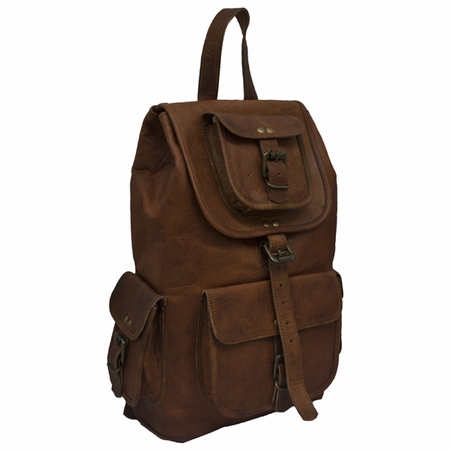 Bullet Blocker Leather Backpack
