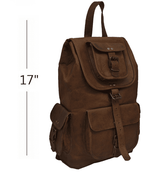 Bullet Blocker NIJ IIIA Leather Backpack