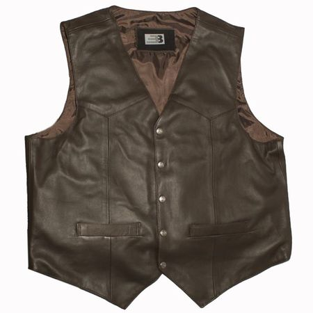 BulletBlocker NIJ IIIA Bulletproof Leather Western Vest Closeout