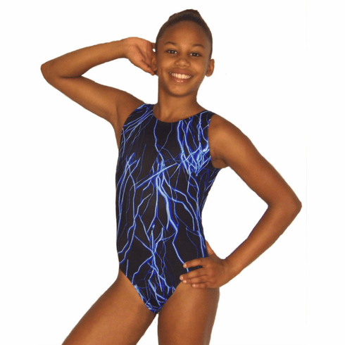 Blue Lightning Gymnastic Leotard