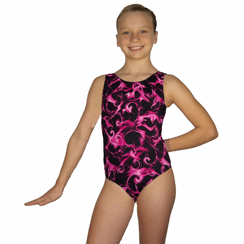Misty Pink Wave Gymnastic Leotard