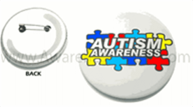 Autism Awareness Badge Button Small 1""