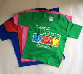 "Autism Awareness Child T- Shirt ""To Know Me...Is to Love Me!"""