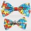 Autism Awareness Hair Bow