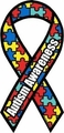 "Autism Awareness Large Ribbon Magnet 4"" x 8"""
