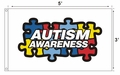 Autism Awareness Puzzle Piece 3x5 Flag