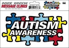 Autism Awareness Puzzle Piece Static Cling Decal