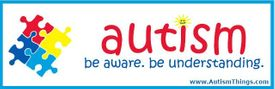 Autism be Aware be Understanding Bumper Sticker