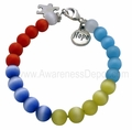 Autism Cat Eye Beads Sterling Silver Bracelet 1