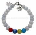 Autism Cat Eye Beads Sterling Silver Bracelet 2