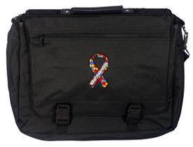 Autism Embroidered Briefcase