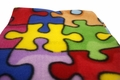 Autism Jigsaw Puzzle Fleece Fabric