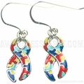 Autism Ribbon Charm Earrings