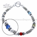 Autism Sterling Silver and Swarovski Crystal Bracelet