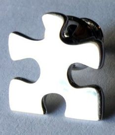 Autism Sterling Silver Puzzle Pin