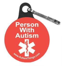 Autism Zipper Pull Safety Button