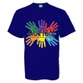 """Blue Autism Awareness Adult Shirt """"Support,Educate,Advocate"""""""