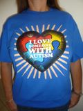 I Love Someone With Autism T-Shirt-Blue
