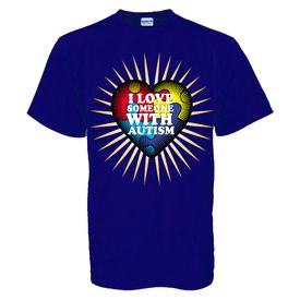 I Love Someone With Autism T-Shirt-Blue Adult and Youth sizes