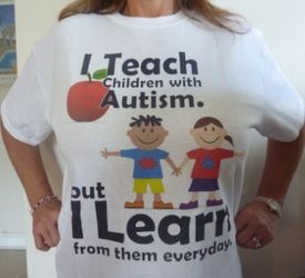 I Teach Children With Autism T-shirt (White)