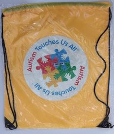 Autism Touches Us All Drawstring Lightweight Backpack
