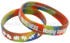 SALE!! Autism Awareness Rainbow Bracelets Adult Size
