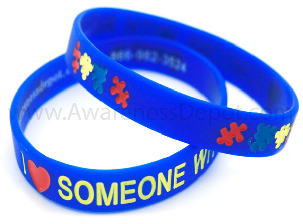 Autism Bracelets I Love Someone With Silicone