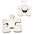 Silver Puzzle Magnetic Back Pin