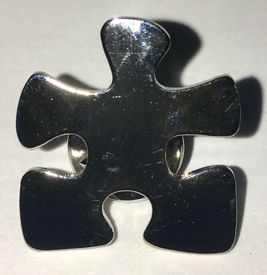 Silver Puzzle Pin