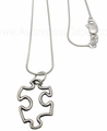 Sterling Silver Puzzle Piece Link Necklace