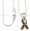 Swarovski Autism Charm Sterling Silver Necklace