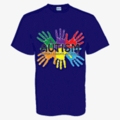 "Youth Blue Autism Awareness Shirt-""Support, Educatate, Advocate"""