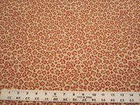 2 1/2 yards of Fabricut cheetah red upholstery fabric