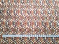 2 1/2 yards of ogee patterned upholstery fabric