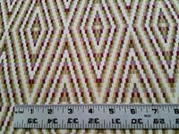 2 1/2 yards of Robert Allen Diamond Braid upholstery fabric color berry crush