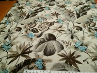 2 1/4 yards of tropical floral designer upholstery fabric