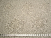 2 1/8 yards Cora damask print fabric color Champagne by Belle Maison