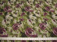 2 1/8 yards of Fabricut Cezanne plum floral upholstery fabric