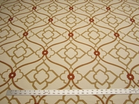 2 1/8 yards of Kravet Zuma color ginger embroidered multi purpose fabric