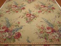 2 3/4 yards of Portfolio Gillian floral print drapery fabric