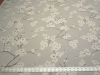 2 3/8 yards of Fabricut Cherry Blossom jacquard upholstery/drapery fabric