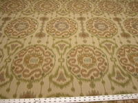 2 3/8 yards of Kravet Ikat medallion design upholstery fabric