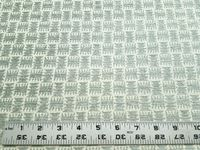 3 1/4 yards of aqua chenille patterned upholstery fabric