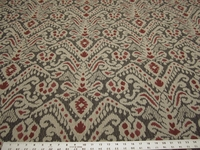 3 1/8 yards of Mina spice ikat upholstery fabric