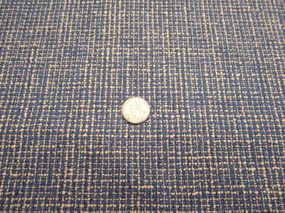 7 5/8 yards of blue tweed type upholstery fabric